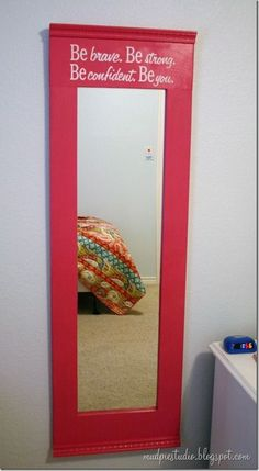 Mirror Makeover for Little Girls Room