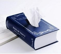 Book of Tissue is decidedly cuter than a cardboard Kleenex box is part of Book lovers gifts Have some books on a bookshelf You& just getting started - Ideias Diy, Book Lovers Gifts, Tissue Boxes, Tissue Box Holder, Paper Boxes, Tissue Box Covers, Altered Books, I Love Books, Book Crafts