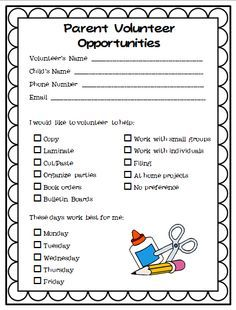 50 ideas for parent volunteers parent volunteers kindergarten and volunteer sign up bulletins for church google search thecheapjerseys Image collections