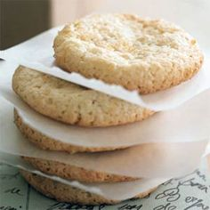 Amaretti: Package these crunchy cookies in a gift box with a pound of your favorite coffee beans. Look for almond paste on your supermarket's baking aisle, and for best results, don't substitute marzipan, which is sweeter and more finely textured, in place of the paste.