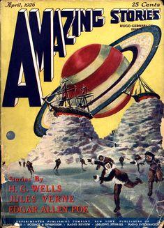 Vintage AMAZING STORIES magazine cover.
