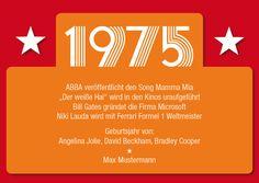Einladung+zum+40.+Geburtstag:+1975+Ereignisse++von+Individuelle+Einladung+auf+DaWanda.com