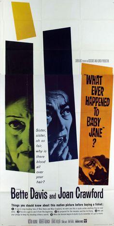 "Robert Aldrich's ""What Ever Happened to Baby Jane?"" (1962) -- Original Release Poster."