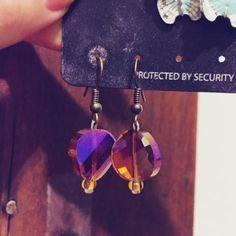 """Retro Handmade Two-Tone Earrings Inspired by """"American Hustler""""... by ThePoetique"""