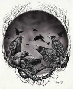 Untitled - Crows by Derek-Castro on DeviantArt