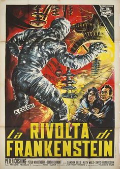 Posteritati: The Evil of Frankenstein 1964 Italy Due Fogli (39x55)