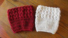 Kathy's Ripple Boot Cuff :: free #crochet boot cuff patterns