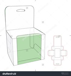 Box With Shelf Hanging Holes And Die Cut Layout Stock Vector Illustration 190446467 : Shutterstock