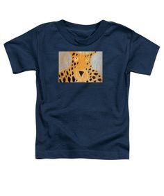 Patrick Francis Navy Blue Designer Toddler T-Shirt featuring the painting Cheetah 2014 by Patrick Francis
