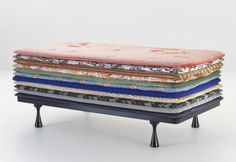Absolutely ADORE this! (Principessa- A daybed consisting of many thin mattress layers referencing the Hans Christian Anderson tale of Princess and the Pea. Designed for Moroso and presented during Salone in Milan) Sofa Daybed, Diy Daybed, Outdoor Daybed, Bed Bench, O Ritual, Le Living, Lineup, Chairs, Art Deco