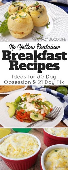 No Yellow Breakfast Recipes for 80 Day Obsession and 21 Day Fix The 80 Day Obsession is coming! The best way to get ready is to be prepared for the food portion. Start out with these no yellow breakfast recipes for 80 Day Obsession and 21 Day Fix! Healthy Breakfast Recipes, Clean Eating Recipes, Easy Healthy Recipes, Easy Meals, Healthy Eating, Fit Meals, Healthy Breakfasts, Healthy Alternatives, Healthy Choices