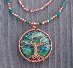 Chrysocolla Tree of Life Necklace | Flickr - Photo Sharing!