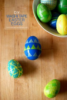 DIY Washi Tape Easter Eggs | CorinnaWraps.wordpress.com