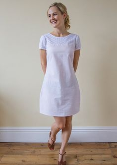 Colette Laurel Dress with Embroidered Cotton Yoke The Blog | Guthrie & Ghani