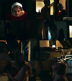 This moment was so hot beautiful but at the same time very powerful for Offred. It seems like for the first time in tha The Handmaid's Tale Series, The Handmaid's Tale Book, Tales Series, Tv Series, Margaret Atwood, Handmaid's Tale Show, Netflix, Tv Show Couples, Elisabeth Moss