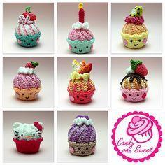 Ravelry, #crochet, free pattern, Cupcake, amigurumi, #haken, gratis patroon (Engels), cupcake, gebak, decoratie, feest, verjaardag, #haakpatroon