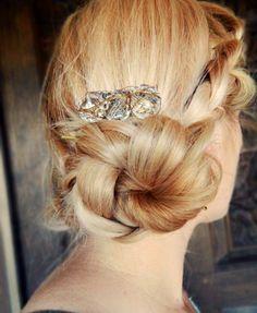 diy crystal bead hair comb
