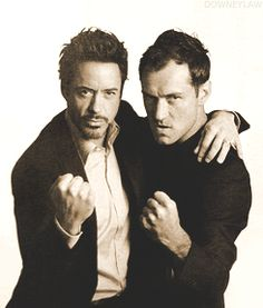 """Sherlock Holmes"" co-stars Robert Downey Jr. and Jude Law."