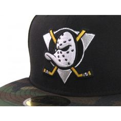 Anaheim Mighty Ducks New Era 5950 Fitted Hats (BLACK CAMO) a27fc9883d3