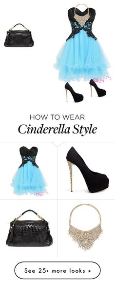 """Wut Cinderella Should Have Really Worn"" by shannontocool on Polyvore featuring Giuseppe Zanotti and Bebe"