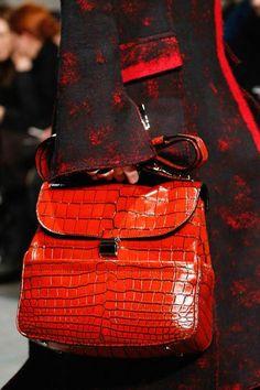 Proenza Schouler red croc bag