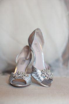 Silver Embellished Peep Toe Bridal Heels   Debra Gulbas Photography https://www.theknot.com/marketplace/debra-gulbas-photography-austin-tx-195869   TX Hill Country Events   Ma Maison Wedding