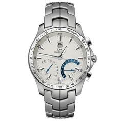TAG Heuer Men's CJF7111.BA0592 Link Calibre S Chronograph Silver Dial Watch from TAG Heuer @ TAG-Heuer-Watches .com