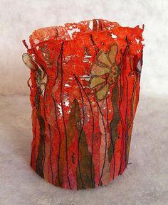 Lutradur surrounding for a jar.