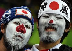 TOPSHOTS Japanese fans with their faces | Metro UK