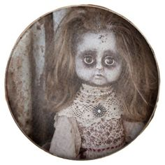 #Creepy Gothic Porcelain Doll Victorian Goth Chocolate Dipped Oreo - #Chocolates #Treats #chocolate