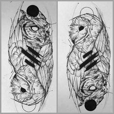 """Yin-yang ✒️@inkonik_tattoo_studio  #eletricink"""