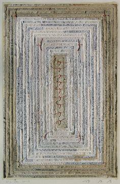 D-2.Jan.2013  42x27.5cm  paper making, collage  林孝彦 HAYASHI Takahiko 2013