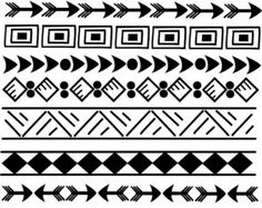 "american southwest coloring pages | 50% off Sale 11 Indian Tribal borde rs, 8.5"" Doodle Clip Art Set ..."