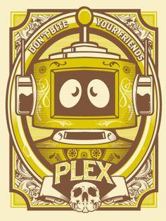 Plex Art pring by Hydro74! YO GABBA GABBA!