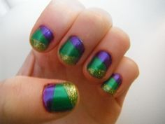 Mardi Gras mani straight from the French Quarter