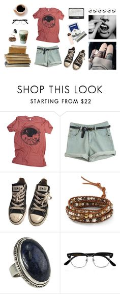 """""""Untitled #766"""" by akts ❤ liked on Polyvore featuring Converse, MANGO, Chan Luu, Cutler and Gross and NARS Cosmetics"""