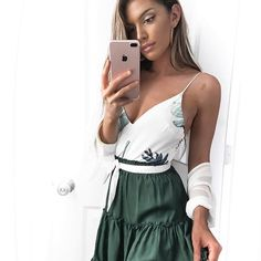 The Battlefield Bodysuit is BACK!!! And how cute does it look on @kelsrfloydShop now via the link in our bio #hellomollyfashion