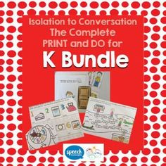 Articulation - Isolation to Conversation - K Bundle - fun and interactive activities for working on each stage of the articulation hierarchy. Let's have fun in therapy today. Activities for every step of the hierarchy for k in initial, medial and final p