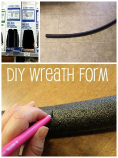 Make wreath forms from pipe insulation.