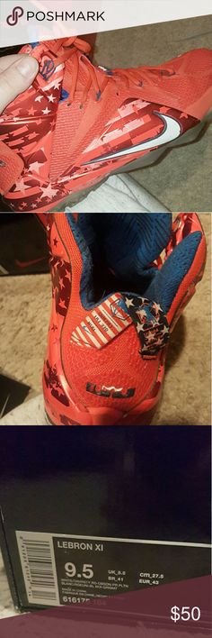 LeBron 12s Independence Day Edition w OG Box COMES WITH ORIGINAL BOX Would keep these but way to small for me Havent touched them in over a year, still wanted to keep them. still in good condition 8.5/10 Will negotiate price Nike Shoes Sneakers