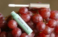 Brow Gain - Damone Roberts      Liquid Biotin to make over tweezed brows regrow.