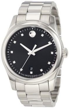 Movado Men's 0606496 Movado Sportivo Stainless Steel Diamond Marker Dial Bracelet Watch Movado. $681.15. Deployment buckle. Stainless steel case. Water-resistant to 99 feet (30 M). Black dial with diamond markers. Swiss-Quartz