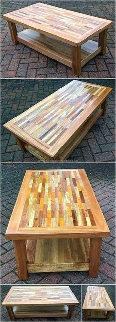 Check out this memorizing plan made by reshaping the reused wood pallet of our place. This is an awesome creation to add beauty to your home. #table #coffeetable #pallets #woodpallets #palletfurniture #palletprojects #palletideas #recycle #recycledpallet #reclaimed #repurposed #reused #restore #upcycle #diy #palletart #pallet
