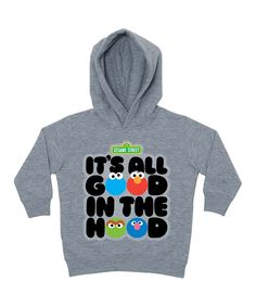 Look at this Gray Sesame Street 'Good' Personalized Hoodie - Toddler & Kids