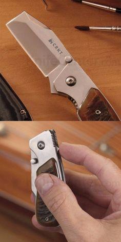 Columbia River Knife and Tool CRKT 4020RH Graham Stubby EDC Folding Pocket Razel Knife - Everyday Carry Gear
