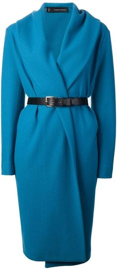 DSQUARED2 Blue Belted Coat  - Lyst