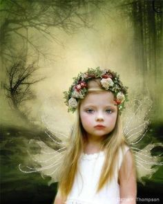 Sweet fairy in the forest