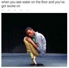 """The """"Wet Floor"""" Pose:"""