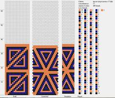 17 round bead crochet - dolgovasve — «яркие треугольники.JPG» на Яндекс.Фотках