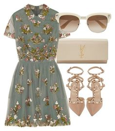 """""""Untitled #2834"""" by glitter-the-world ❤️ liked on Polyvore featuring Yves Saint Laurent and Valentino"""